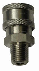 Hpc ,Stainless Steel,,1/4 Quick Connects Socket W/Mpt Pressure Washer Part 4629