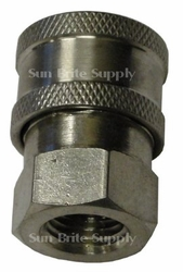 Hpc ,Stainless Steel,,3/8 Quick Connects Socket W/Fpt Pressure Washer Part 4630