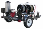 Pressure-Pro Hot Shot Factory-Built Hot Water Trailer Rig-Pressure Washing Equipment
