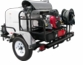Pressure Pro TR6115PRO-35HG Hot Water Trailer (5.5 GPM @ 3500 PSI) with GX630 Honda engine, HP pump made by General, 115VAC Beckett burner, with generator.