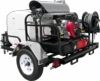 Pressure Pro TR8012PRO-35HG Hot Water Trailer (8 GPM @ 3500 PSI) with GX690 engine, General Pump, 12VDC Beckett burner