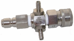 Double Dip ,Stainless Steel,,Chemical Injector For Pressure Washers 90430