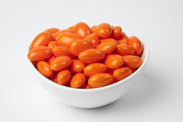 Bright Orange Jordan Almonds (10 Pound Case)