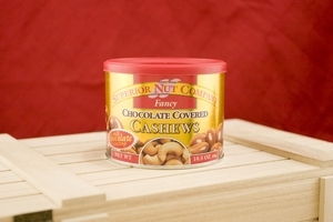 Chocolate Cashews, 10.5oz Canisters (Pack of 3)