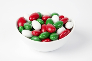 Christmas Jordan Almonds (10 Pound Case)