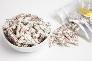 Christmas Tree Pretzels (1 Pound Bag)