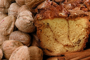 My Grandma's Cinnamon Walnut Coffee Cake