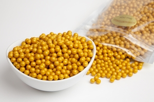 Gold Sugar Candy Beads (1 Pound Bag)