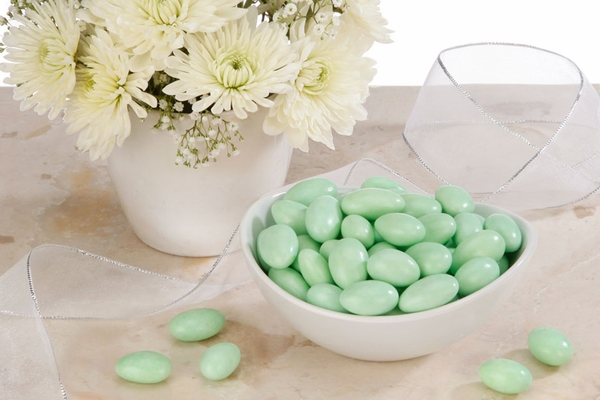 Green Jordan Almonds (5 Pound Bag)