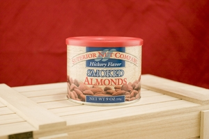 Hickory Smoked Almonds, 9oz Canisters (Pack of 3)