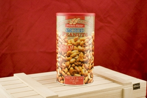 Hickory Smoked Peanuts, 26oz Canisters (Pack of 2)