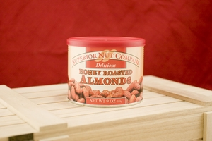 Honey Roasted Almonds, 7.5oz Canisters (Pack of 3)