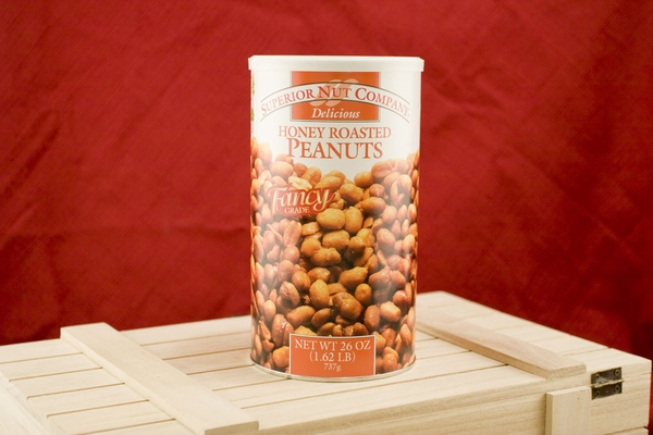 Honey Roasted Peanuts, 26oz Canisters (Pack of 2)