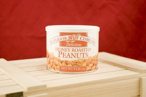 Honey Roasted Peanuts, 9oz Canisters (Pack of 3)