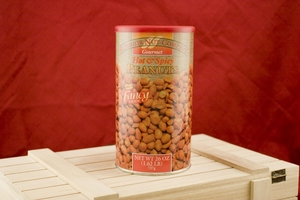 Hot and Spicy Peanuts, 26oz Canisters (Pack of 2)