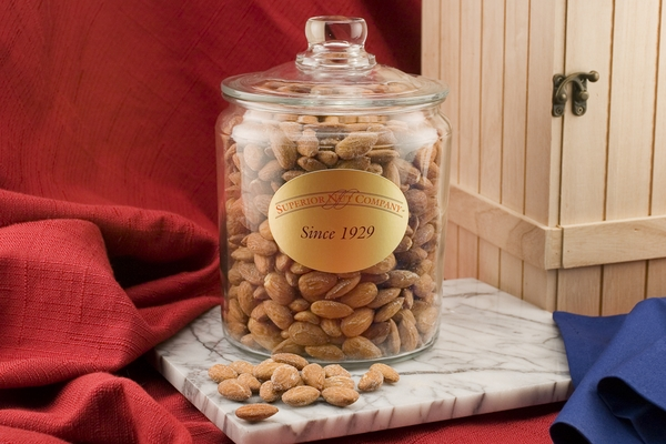 Jumbo California Almonds (3 Pound Glass Jar)