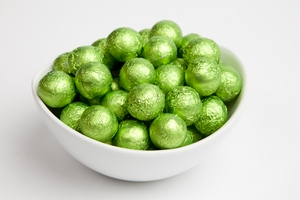Kiwi Foiled Milk Chocolate Balls (5 Pound Bag)