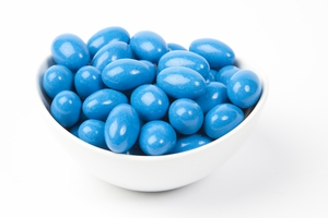 Midnight Blue Chocolate Jordan Almonds (5 Pound Bag)