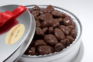 Milk Chocolate Covered Pecans Gift Tin