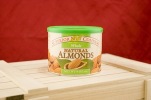 Natural Almonds, 7.5oz Canisters (Pack of 3)