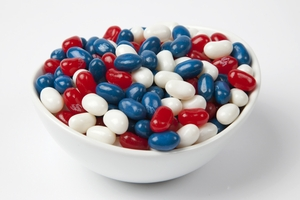 Patriotic Jelly Belly Jelly Beans (5 Pound Bag) - Red, White and Blue