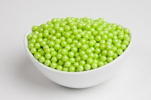 Pearl Lime Green Sugar Candy Beads (10 Pound Case)