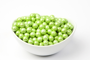 Pearl Lime Sixlets (10 Pound Case)