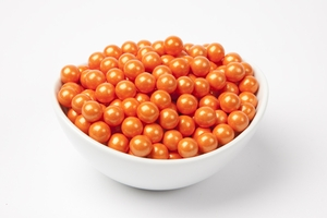 Pearl Orange Sixlets (10 Pound Case)