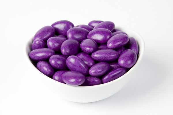 Purple Jordan Almonds (10 Pound Case)