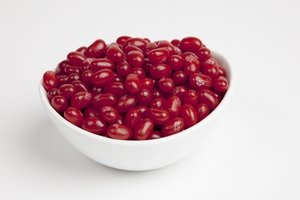 Raspberry Jelly Belly Jelly Beans (5 Pound Bag) - Brown