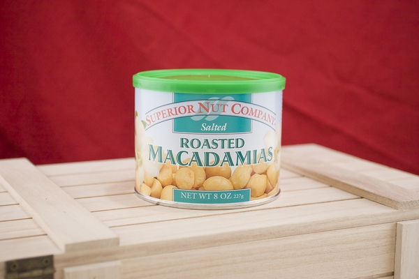 Salted Macadamias, 8 oz Canisters (Pack of 3)