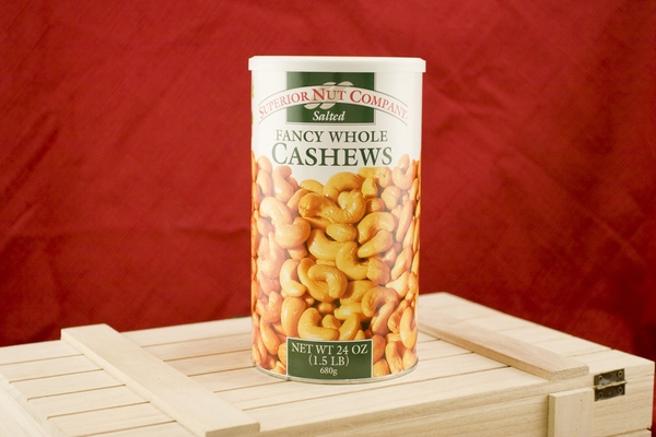 Salted Whole Cashews, 24oz Canisters (Pack of 2)