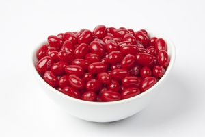 Sour Cherry Jelly Belly Jelly Beans (5 Pound Bag) - Red
