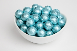 Tiffany Blue Foiled Milk Chocolate Balls (5 Pound Bag)