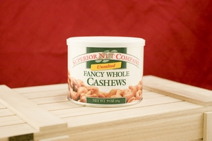 Unsalted Whole Cashews, 9oz Canisters (Pack of 3)