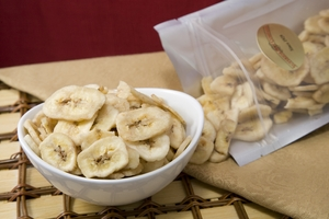 Unsweetened Banana Chips (14 oz Bag) -  No Sugar added