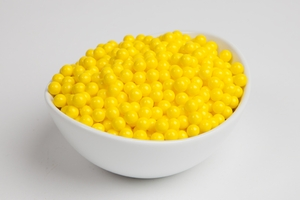 Yellow Sugar Candy Beads (10 Pound Case)