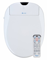 Brondell Swash S1000-EW Elongated White Bidet Toilet Seat