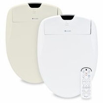 Brondell Swash S1400-EW Elongated White Bidet Toilet Seat