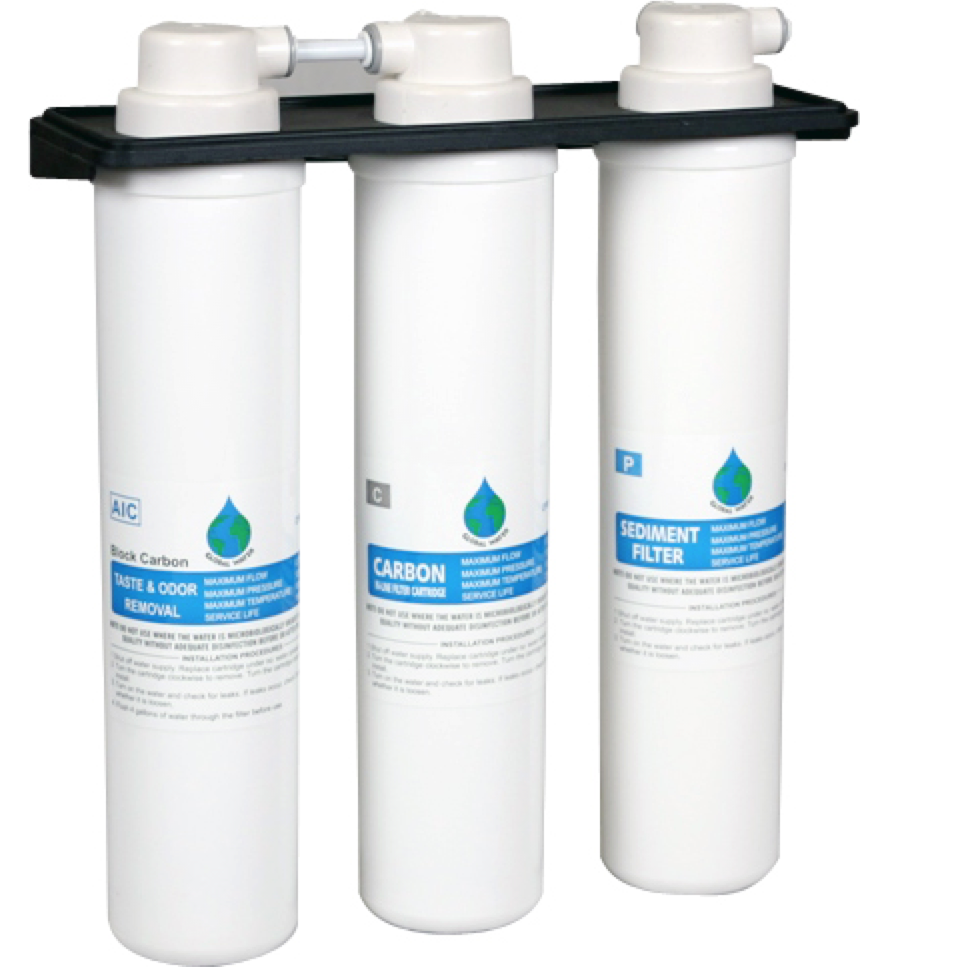 New Wave Enviro Water Filter ET / Global Water 3 Stage Filter Replacement Set # ET