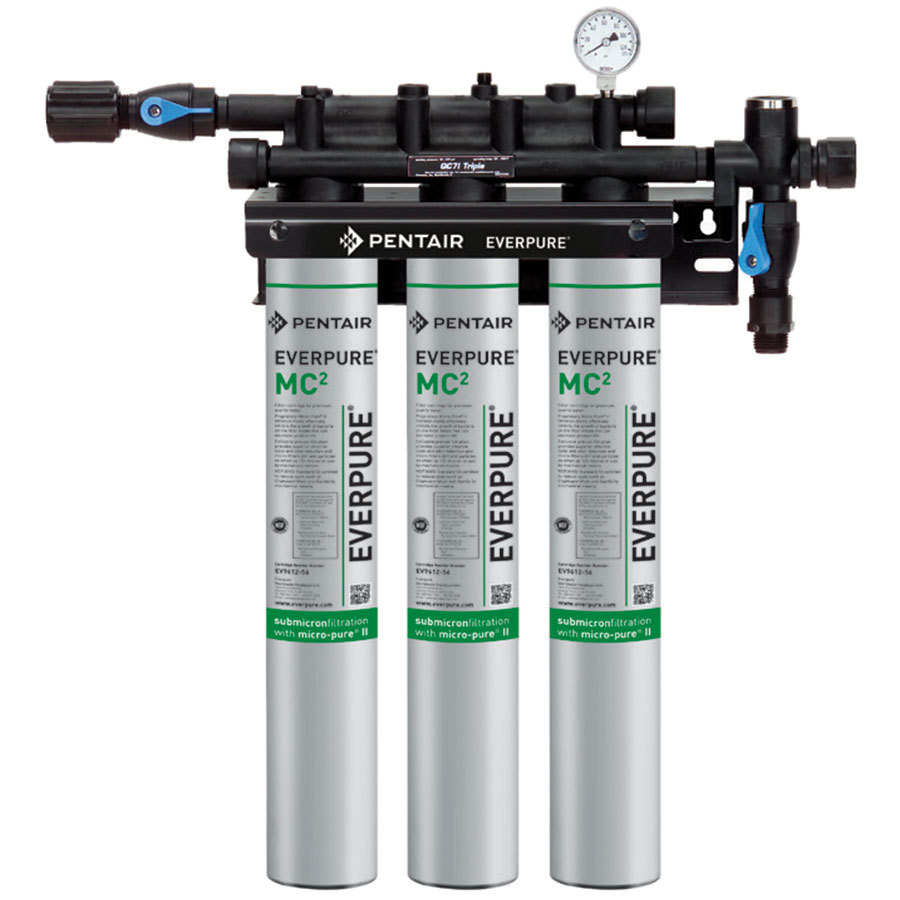 Ev9275 03 512 w coupons everpure qc71 triple mc for Pentair water filtration