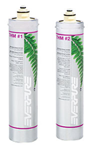 EV-H2T-PAC Pentair Everpure THM 1 & 2 Replacement Water Filter Cartridge Set #  EVH2TPAC