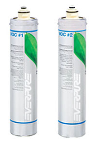 EV960176 - EV960177 Pentair Everpure VOC-1 & VOC-2 Water Filter Cartridge Set