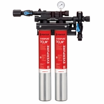 EV9771-12 Pentair Everpure QC71 Twin-7CLM+ Chloramine Reduction Water Filtration System # EV977112