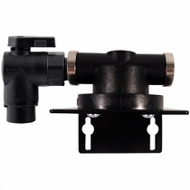 """HF1SQ4 / Homeland Single Filter Head with 1/4"""" QC Elbow Valve Inlet"""