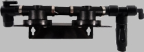 """HF2SB / Homeland Double Filter Head with 3/8"""" FPT Elbow Valve Inlet and 3/8"""" QC Bleeder Valve"""