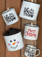 Festive Enamelware Candles