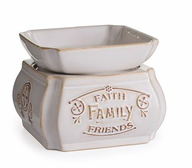 Ceramic Warmer Faith Family Friends