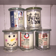 Holiday Contemporary Candles