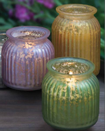 Gilded Glass Candles